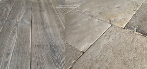 French Oak Flooring, Antique French and Italian Limestone Flooring