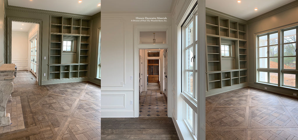 French Oak Flooring in Parquet de Versailles and 7 inch planks