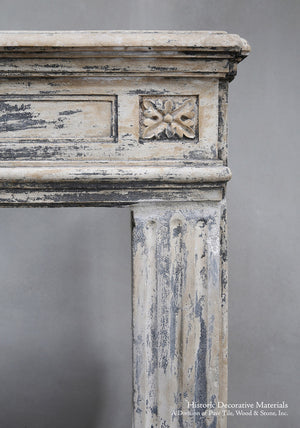19th Century French Limestone Louis XIV Fireplace Mantel
