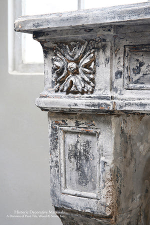 19th Century French Limestone Louis XVI Style Fireplace Mantel from Burgundy, France