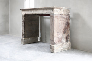 19th Century French Bourgogne Limestone Campagnarde Style Fireplace Mantel