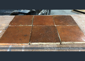 150 Year Old Spanish Reclaimed Terra Cotta Tile