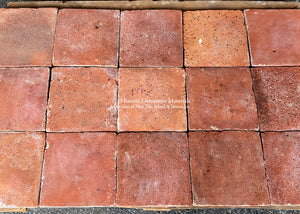 19th century Spanish reclaimed terra cotta tiles