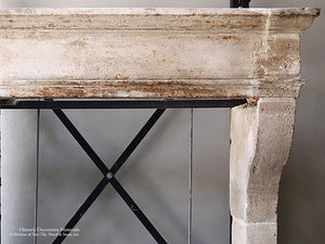 La Maison Française Antique French Stone Fireplace Mantel - Mantel Pavé 116 - SOLD