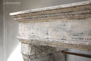 19th Century French Limestone Campagnarde Style Fireplace Mantel from Bourgogne, France