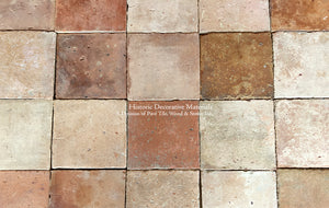 French Reclaimed Terra Cotta Tile Square