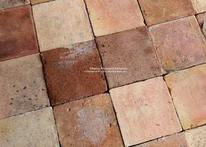 NEW IN-STOCK LOT: Spanish Reclaimed Square Terra Cotta Tile - Item #PA128