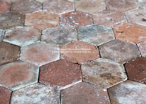 Provençal Reds Color Palette French Reclaimed Hexagon Terra Cotta Tile