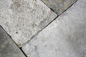 Antique GREY Dalle de Bourgogne French Limestone Flooring