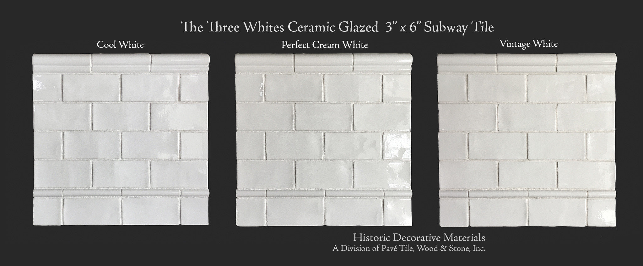 Ceramic glazed 3 x 6 subway tiles for kitchen back splash and the three whites glazed ceramic subway tile is that arch marrying old world materials with traditional dailygadgetfo Choice Image