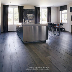 The Great House Collection: Kings of France 18th Century French Oak Flooring in Wide Plank Solid and Engineered: SMOLDER