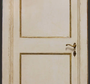 Master Crafted Antiqued Solid Wood Doors: Vieux Blanc et Or