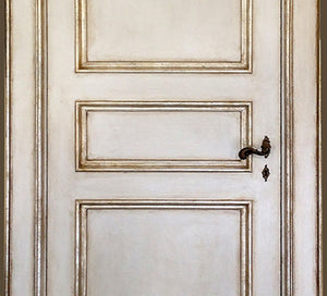 Master Crafted Antiqued Solid Wood Doors - Ivoire et Argentée