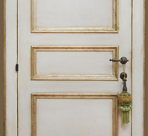 Master Crafted Antiqued Solid Wood Doors: Crème et Or