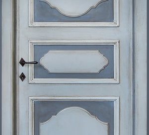 Master Crafted Antiqued Solid Wood Doors: Bleu Ciel
