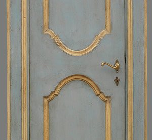 Master Crafted Antiqued Solid Wood Doors: Bleu Français et Or