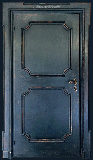 Master Crafted Antiqued Solid Wood Doors: Bleu Noir