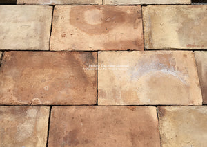 French Reclaimed Parefeuille Terra Cotta Tile - Item #PA137