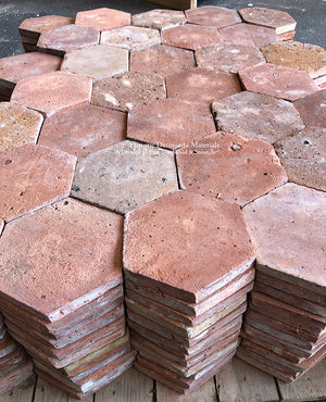 lush + Earth Color Palette French Reclaimed Hexagon Terra Cotta Tile