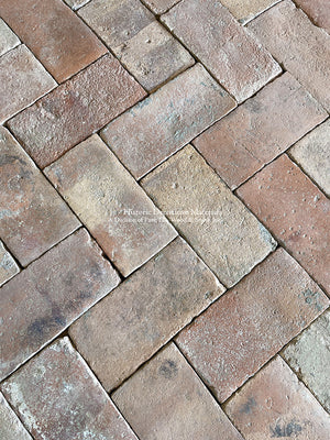 Beautiful Patina Lot of Spanish Reclaimed Terra Cotta Tile Rectangle