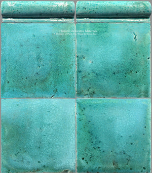 A Jeweled Majolica Wall Tile Collection - Mare Adriatico + Chair Rail