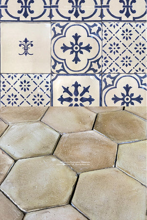 Farmhouse Provencal Terra Cotta Tile + Cuisine de Monet Wall Tile