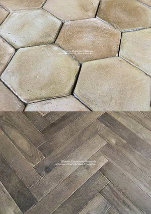 Farmhouse Provencal Terra Cotta Tile + French Oak Flooring