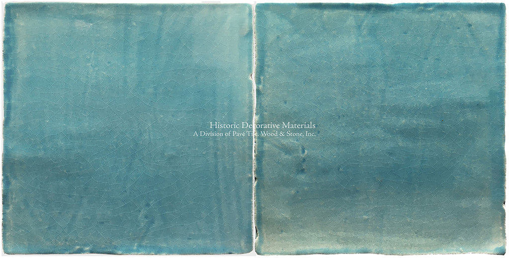Brushstrokes from Japan, a Minimalist Hand Painted Tile Collection: Blue Moon