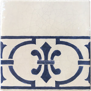 Cuisine de Monet Blue and White French Tile - The Border