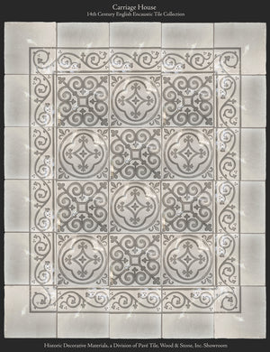 Carriage House 14th Century English Encaustic Tile Collection