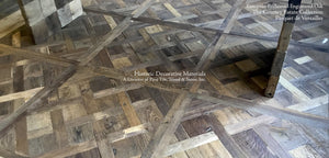 Hand Finished Reclaimed Engineered European Oak Floors in Parquet de Versailles Pattern
