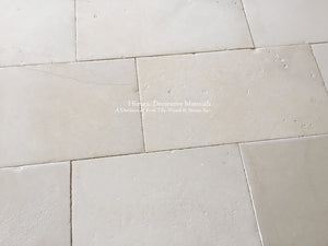 Buffed Shell Aged Israeli Limestone Pavers for Stone Flooring