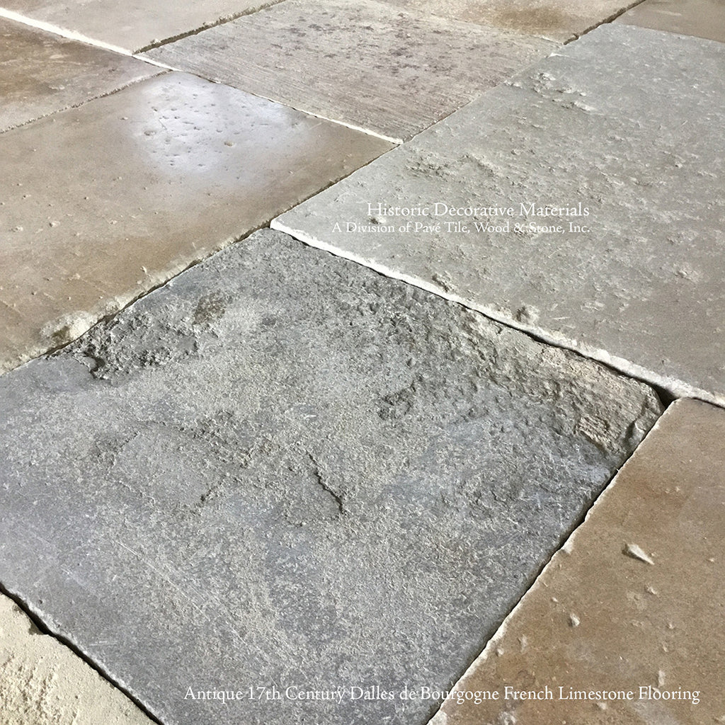 Antique French Limestone Flooring Dalle de Bourgogne