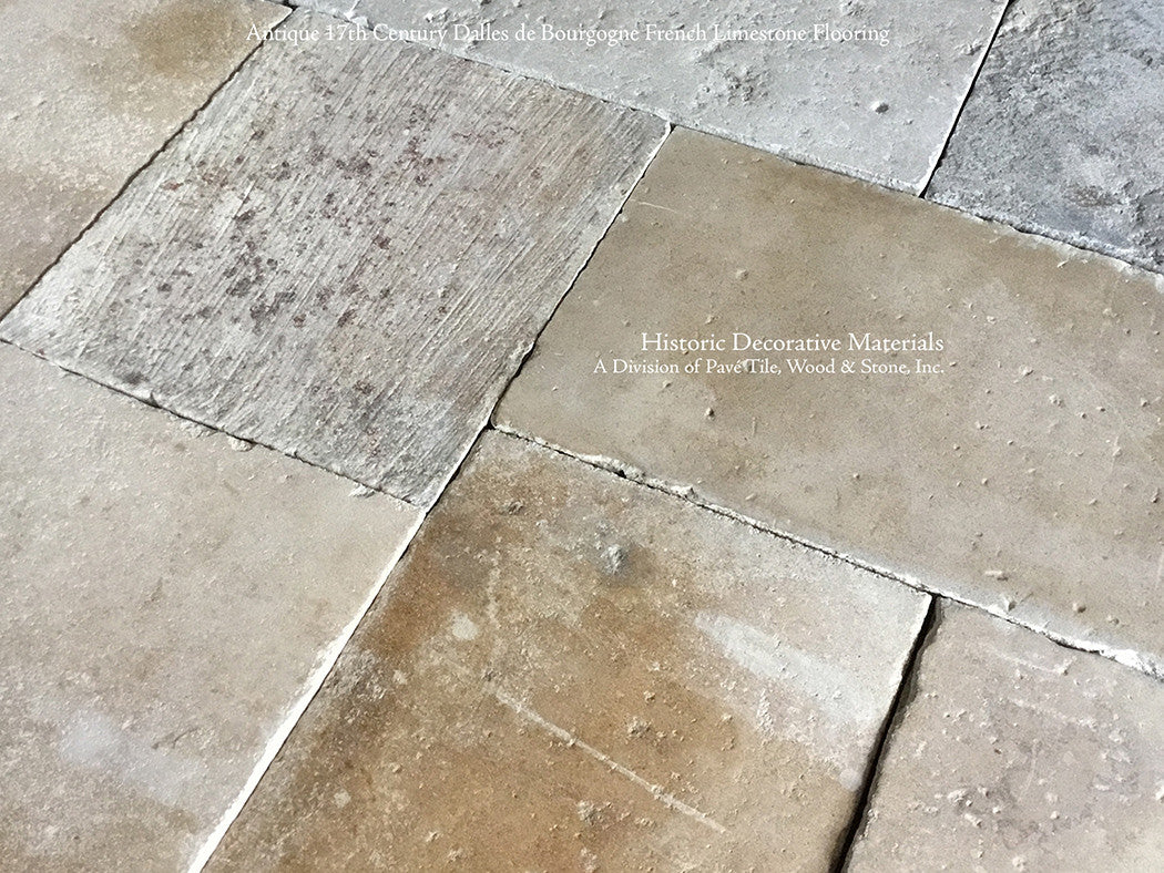 Antique French Limestone Flooring & Antique Belgian Blue Stone ...