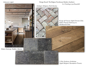 17th Century Antwerp Hand Finished Aged Belgian Blue Stone Flooring