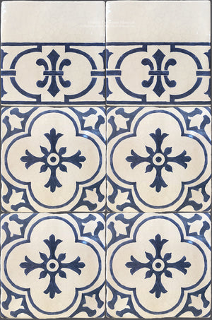 Cuisine de Monet Blue and White French Tile