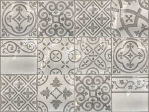 Carriage House English Encaustic Tile Collection - Patchwork