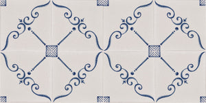 On the Road to Florence 16th Century Italian Decorative Tile - Set of 4 Tiles: Sonetto