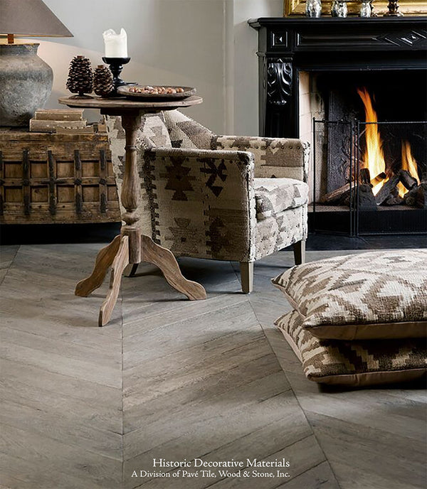 Antique And Aged French Oak Flooring And Vintage French