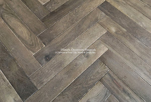 Kings of France 18th Century French Oak Floors in Herringbone Pattern, color - Smolder