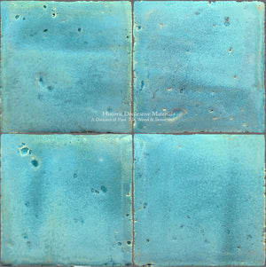 A Jeweled Majolica Wall Tile Collection - Laguna Blu