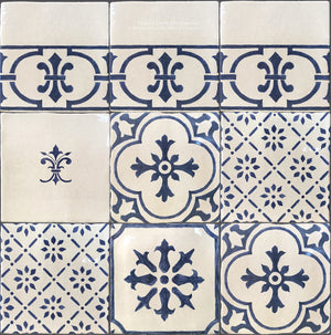Cuisine de Monet Blue and White French Tile Collection