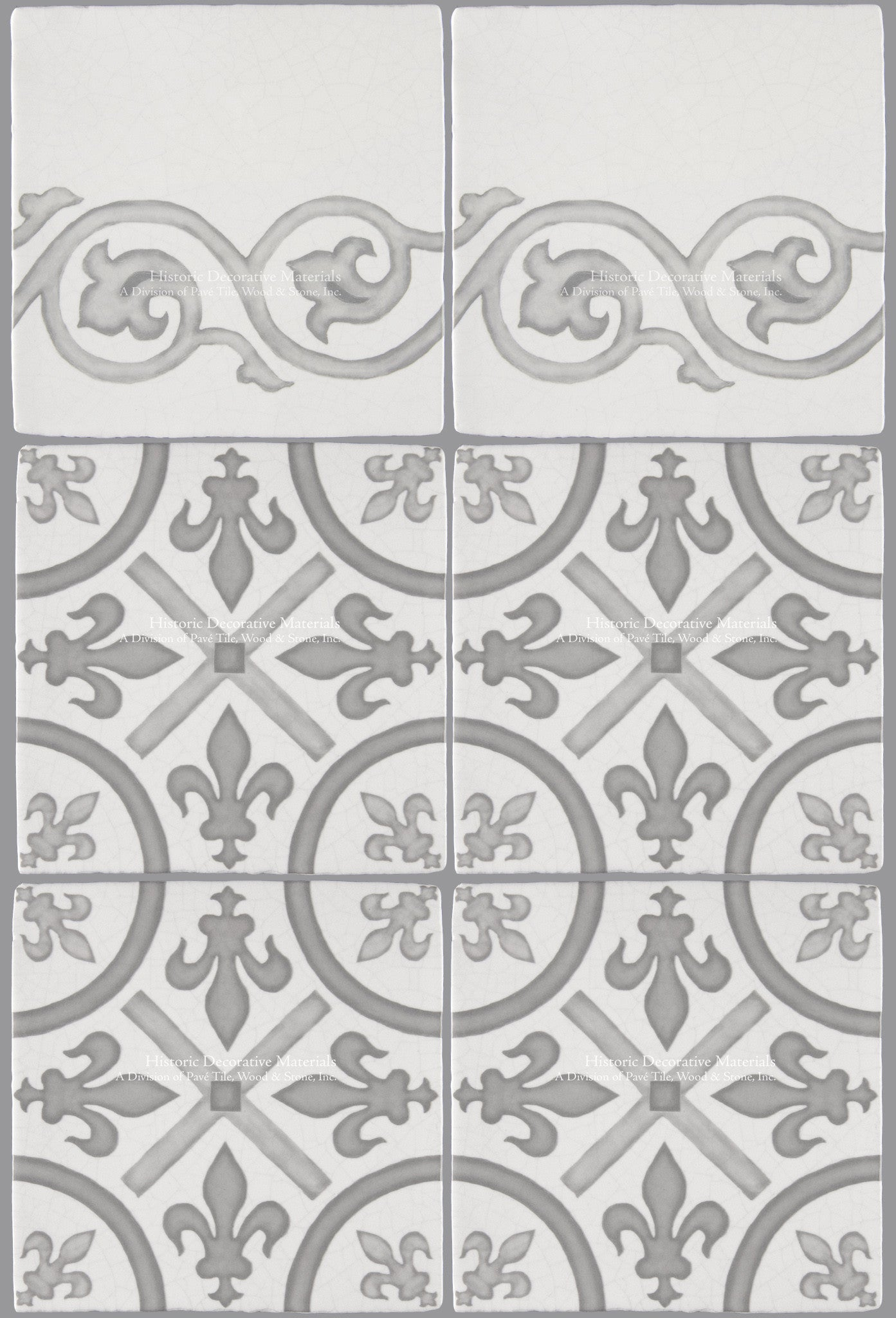 French Encaustic Decorative Wall Tile For Kitchens Baths And Fireplace Surround Tiles