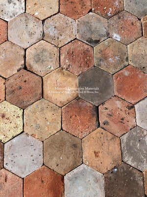 French Reclaimed Hexagon Terra Cotta Tile - Item #PA104