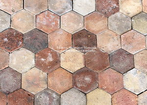 Reclaimed French terra cotta tiles