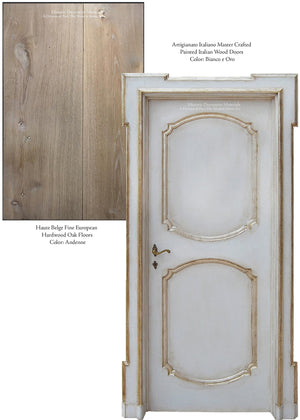 Master Crafted Antiqued Solid Wood Doors - Blanc et Or