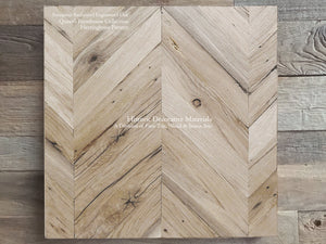 Hand Finished Reclaimed Engineered European Oak Floors Chevron Pattern