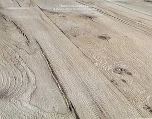 Hand Finished Reclaimed Engineered European Oak Floors in Mixed Width Planks