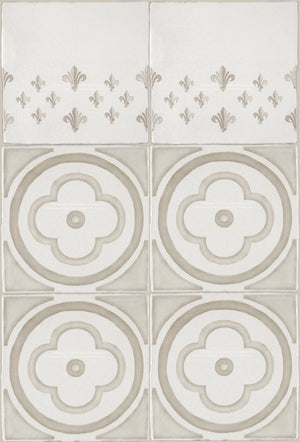 French Encaustic Decorative Wall Tile