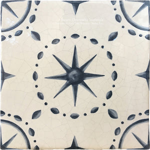 On the Road to Florence 16th Century Italian Decorative Tile:  Stelle di Galileo